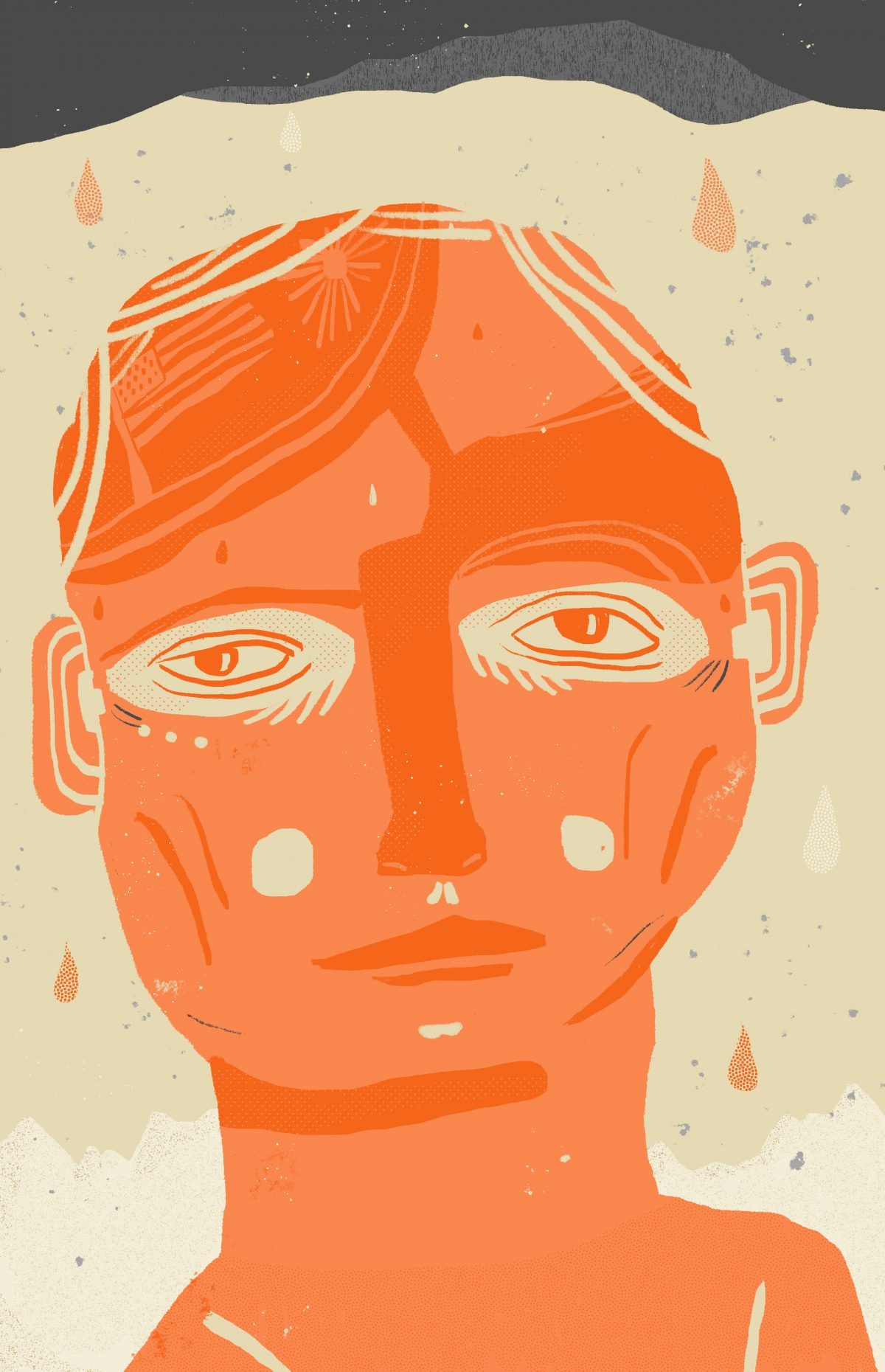 Illustration of the main character of the short story