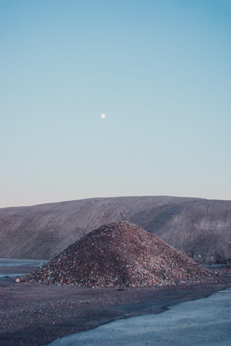A heap of gravel