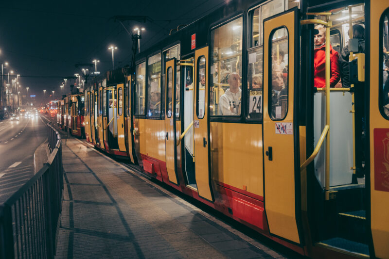 Tram waiting for departure